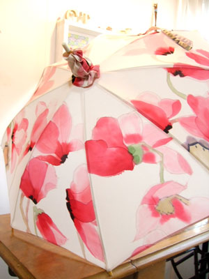 製作実例@振袖からのリメイク。柄が映えます『日傘』&『ポシェット』