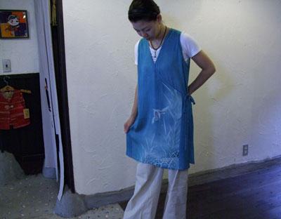 着物リフォームブログ@カナタツ商店設立前夜…TV向けに制作したロングベスト