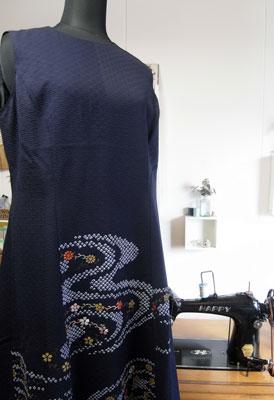 着物リメイクブログ@一枚の着物からワンピースとバッグを作るお話