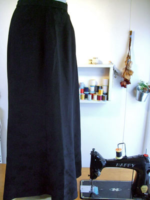 製作実例@羽織の着物からマーメードラインのスカートにリメイク!