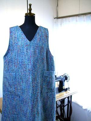 製作実例@ジャンパースカート!着物生地以外からも製作しますよ。