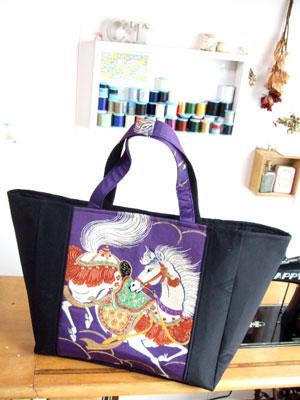 製作実例@カナタツ商店が自分の生地で作ってみた大きなトートバッグ