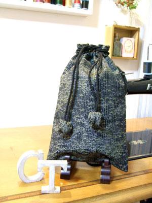 製作実例@帯をリメイクするなら…帯リメイクのクッションと着物リメイク巾着