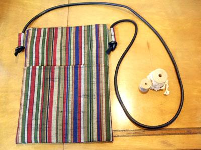 製作実例@形見の着物から製作したご自身用のリメイク商品はハンドバッグとメガネケース