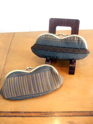 製作実例@羽織の裏からショルダーバッグ、長襦袢からメガネケースのリメイク!