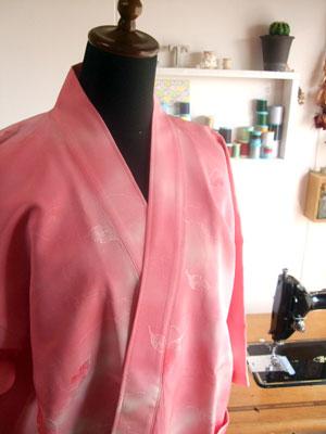 製作実例@着物リメイク・着物リフォームのリクエストno.1 作務衣(さむえ)