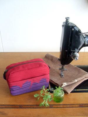 製作実例@母の日にもおススメ!振袖の袖詰の残布からお母様へのプレゼントを着物リメイク!