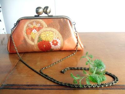 製作実例@名古屋帯からのリメイク/リフォームのおススメ。『ポシェット&ハンドバッグ』