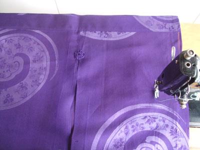 着物リメイク@夏の着物をのれんにリフォーム。絞りの着物を暖簾にリメイク。