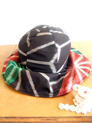 カナタツブログ@着物リメイクで帽子(キャプリーヌ/ハンチング)を作る
