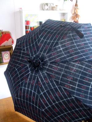 カナタツブログ@リピーターのお客様の着物リメイク…日傘とショルダーバッグ