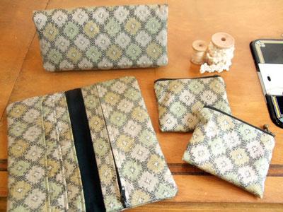 カナタツブログ@着物リメイク…長財布と小銭入れを製作