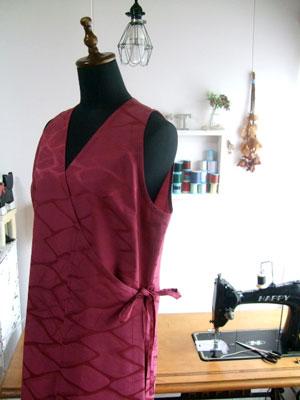 着物リメイクブログ@着物から洋服へのリメイクのカナタツ商店の作り方「ロングベスト」「作務衣」編