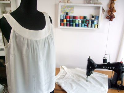 着物リメイクブログ@長襦袢からのリメイクの作り方/訪問着からマフラーにリメイク