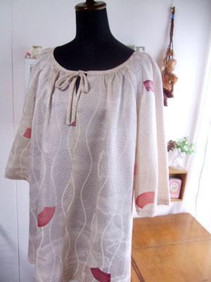 着物リメイクブログ@着物リメイクのチュニックアレンジ例