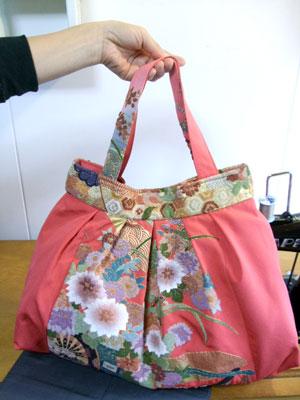 着物リメイクブログ@振袖からグラニーバッグをリメイク!