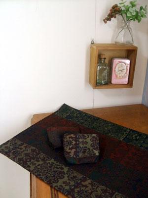 着物リメイクブログ@帯リメイク…ショルダーバッグ、テーブルセンター、小銭入れ