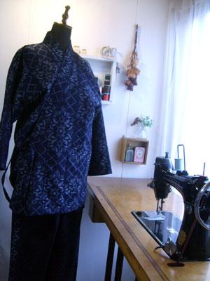 着物リメイクブログ@着物リメイクで作務衣を作る!