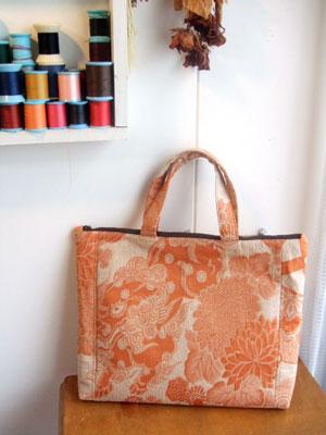 着物リメイクブログ@帯をリメイクしてハンドバッグを作る時…