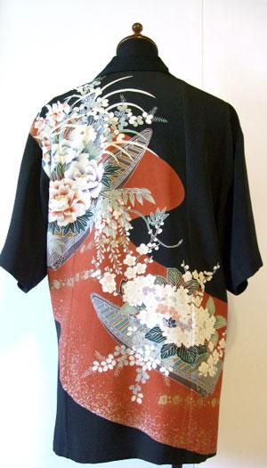 着物リメイクブログ@留袖リメイクアロハシャツと浴衣リメイクエプロン