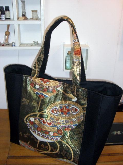 着物リメイクブログ@帯リメイクのトートバッグを作る!
