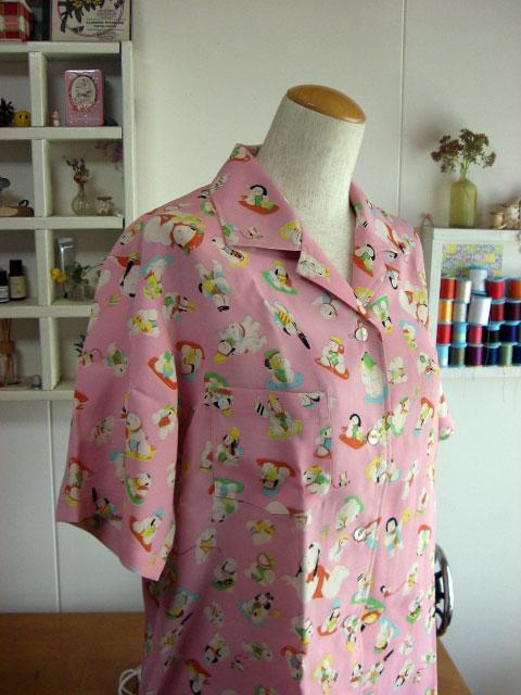 着物リメイクブログ@可愛い唐子柄のアロハシャツでアロハシャツの歴史を語る!