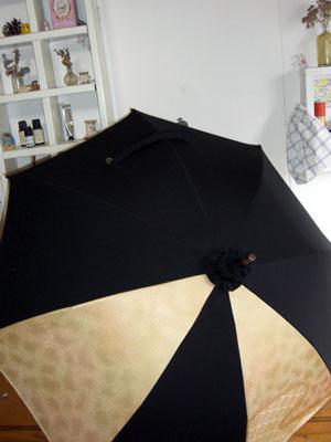 着物リメイクブログ@着物と羽織を組み合わせて1本の日傘をリメイクする