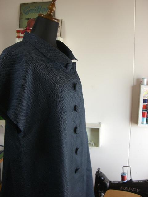 着物リフォームブログ@着物リメイクでロングベストとショルダーバッグをお揃いでリメイク!