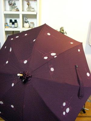 着物リフォームブログ@羽織リメイク日傘/日傘ケースを例に…生地の配分に関する話