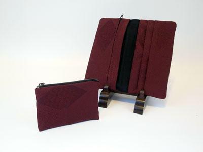 着物リフォームブログ@道行コートをリメイクした制作実例…ハンドバッグ&財布
