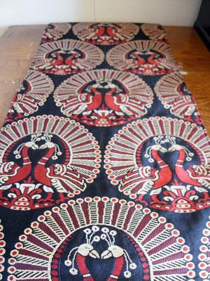 着物リメイクブログ@帯のリメイクをシンプルに行う…テーブルセンター