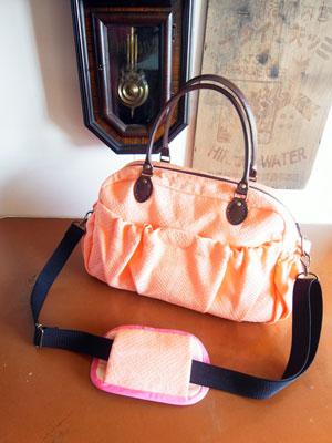 着物リフォームブログ@いつもより小さなボストンバッグを帯で作りました。