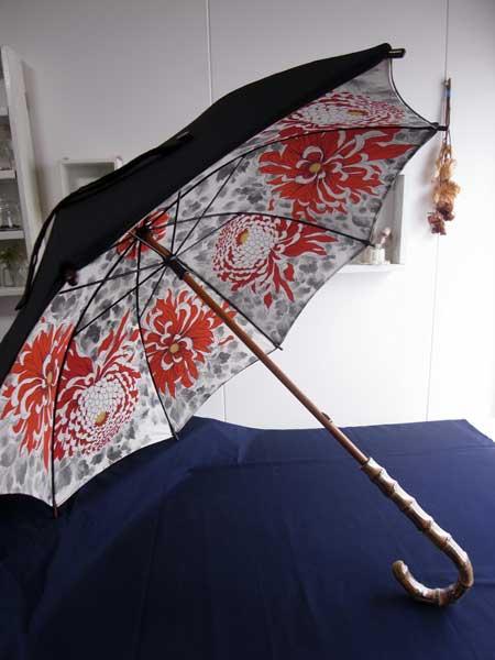 着物リメイクブログ@2種類の着物を使ってリメイクする日傘の作り方…2つの案!