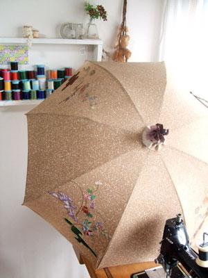 着物リメイク日傘 市川のお客様もお気軽にご相談ください。