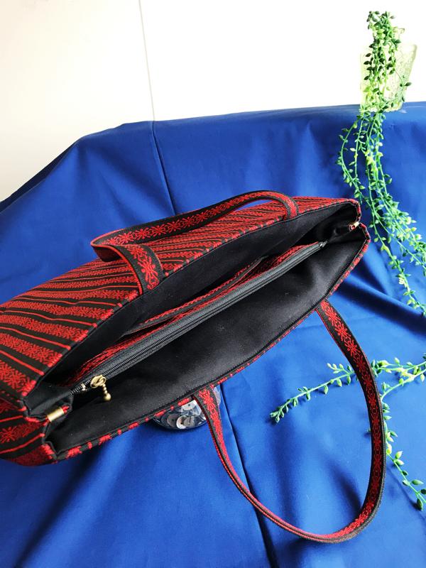 サンプルのバッグを帯リメイクで再現してみる。