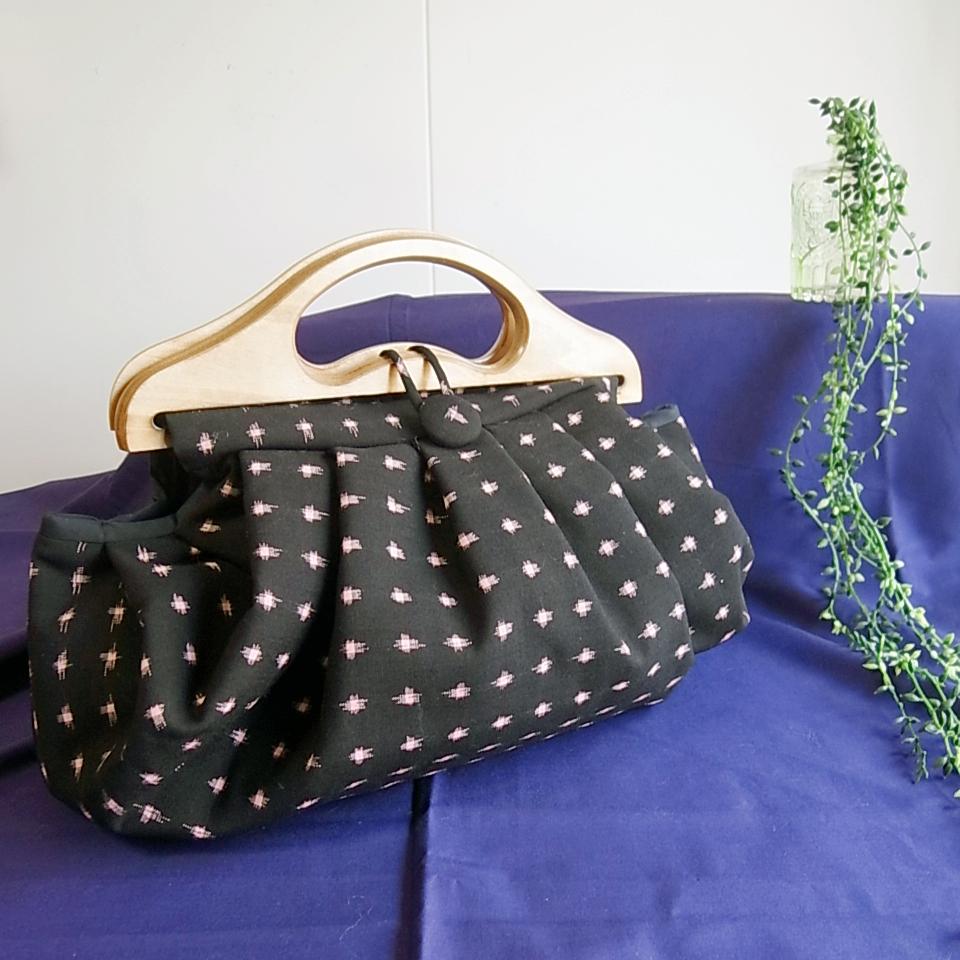 着物リメイク日傘とグラニーバッグ製作実例