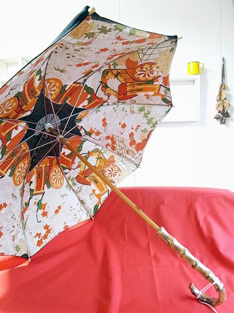 留袖×振袖の日傘製作実例
