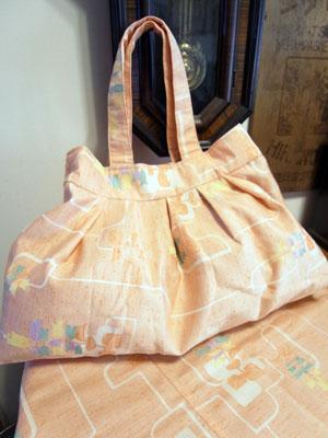 着物リメイクブログ@グラニーバッグとフリーカバーを製作しました
