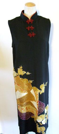 留袖リメイクチャイナドレス(ワンピース)