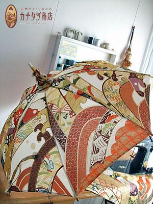 振袖から製作させて頂いた最高峰の着物リメイク日傘