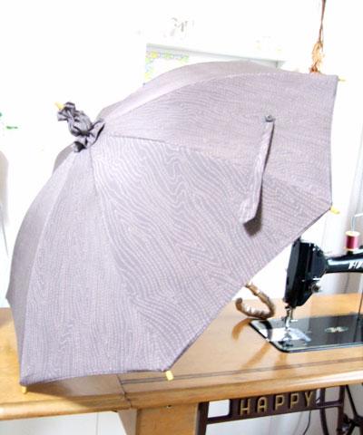 一枚の紫の着物から「日傘」「ハンドバッグ」「マフラー」作りました