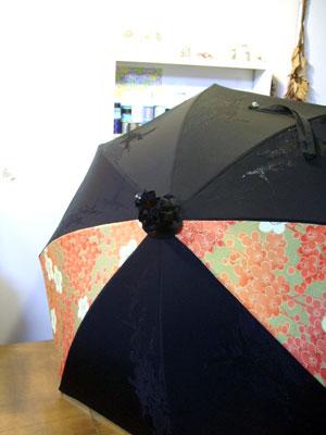6種類の着物を組み合わせて5本の日傘をリメイク!