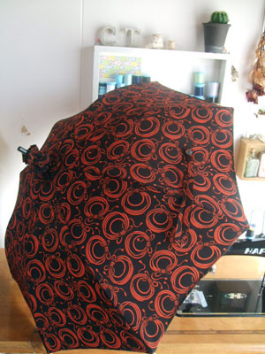 製作実例@道行コートと羽織が美しい日傘に着物リメイク/リフォーム