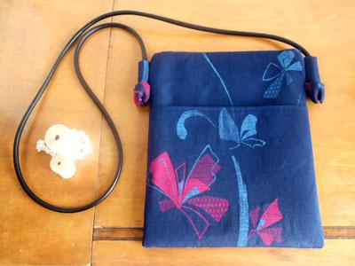 製作実例@1枚の着物からハンドバッグ、ショルダーバッグ、巾着。ほどき料込で2万円也
