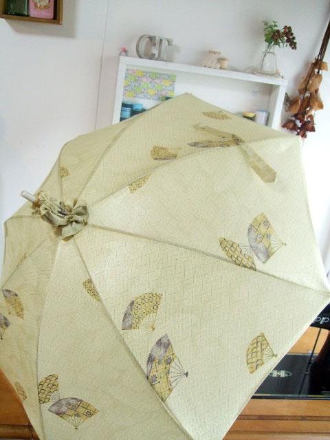 製作実例@着物リメイク3点セットアレンジ編…「日傘」「ハンドバッグ」「ポシェット」