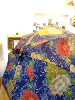 着物リフォーム…「日傘」「ハンドバッグ」、そして「ポーチ」