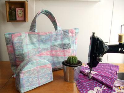 カナタツブログ@お試しで頼んだ着物リメイク…「バッグ」「ポーチ」を製作