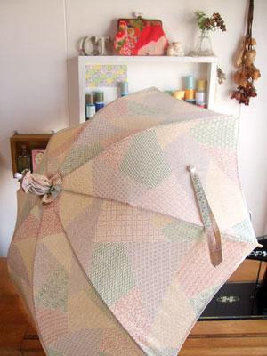 一枚の着物から…日傘とグラニーバッグをリメイク!
