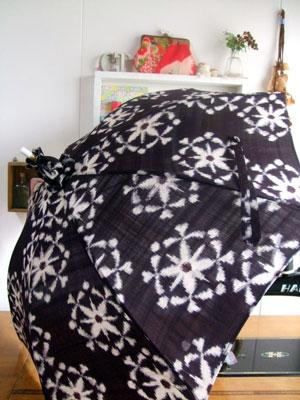 着物リメイク日傘…こんなテクニックを使って着物はリメイクします!