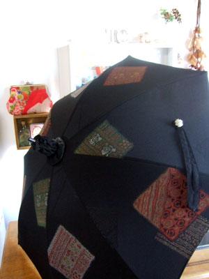 一枚の羽織からは…日傘が一本リメイク出来ます。